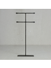 HomArt Maddox Forged Iron Jewelry Double T Stand - Extra Tall 16 - Black