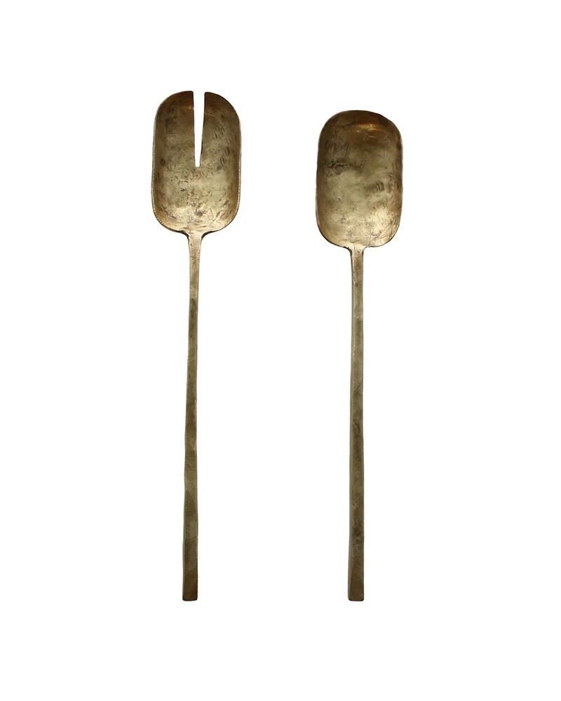 HomArt Salad Servers - Brass