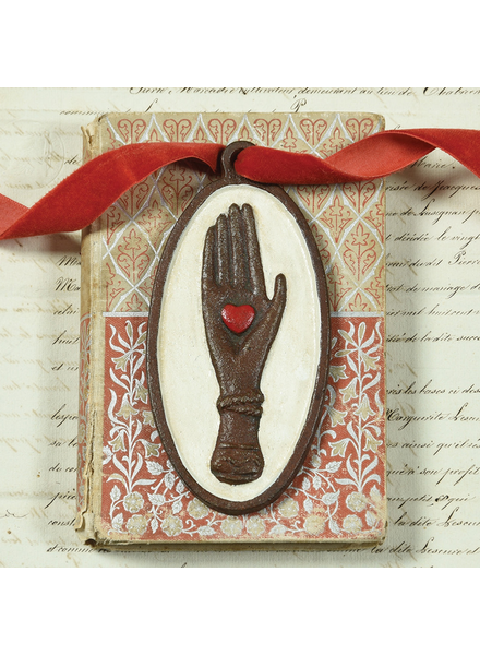 HomArt Hand with Heart Plaque - Cast Iron
