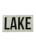 HomArt Cast Iron Sign - LAKE