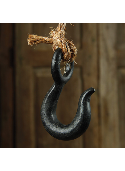HomArt Industrial Iron J Hook - Black