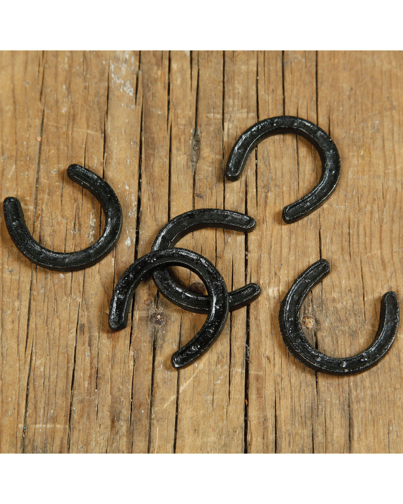 HomArt Black Cast Iron Horse Shoe - Set of 4