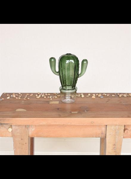 HomArt Saguaro Cactus Vase, Glass - Green