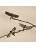 HomArt Dragonflies on Clips, Feather - Box of 3 - Set of 2 Boxes