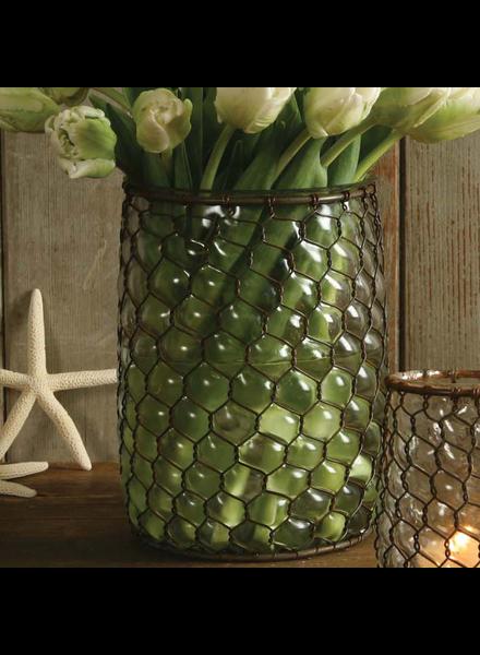 HomArt Vallarta Glass Vase - Lrg - Rust