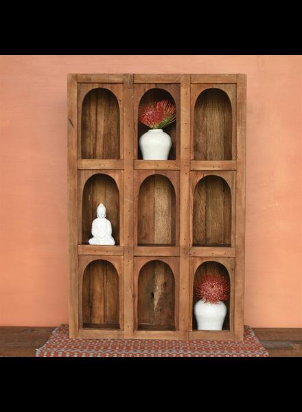 HomArt Soledad Nine Arch Display Case, Wood