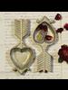 HomArt Antique Gold Heart & Arrow Cast Iron Dish - Set of 2