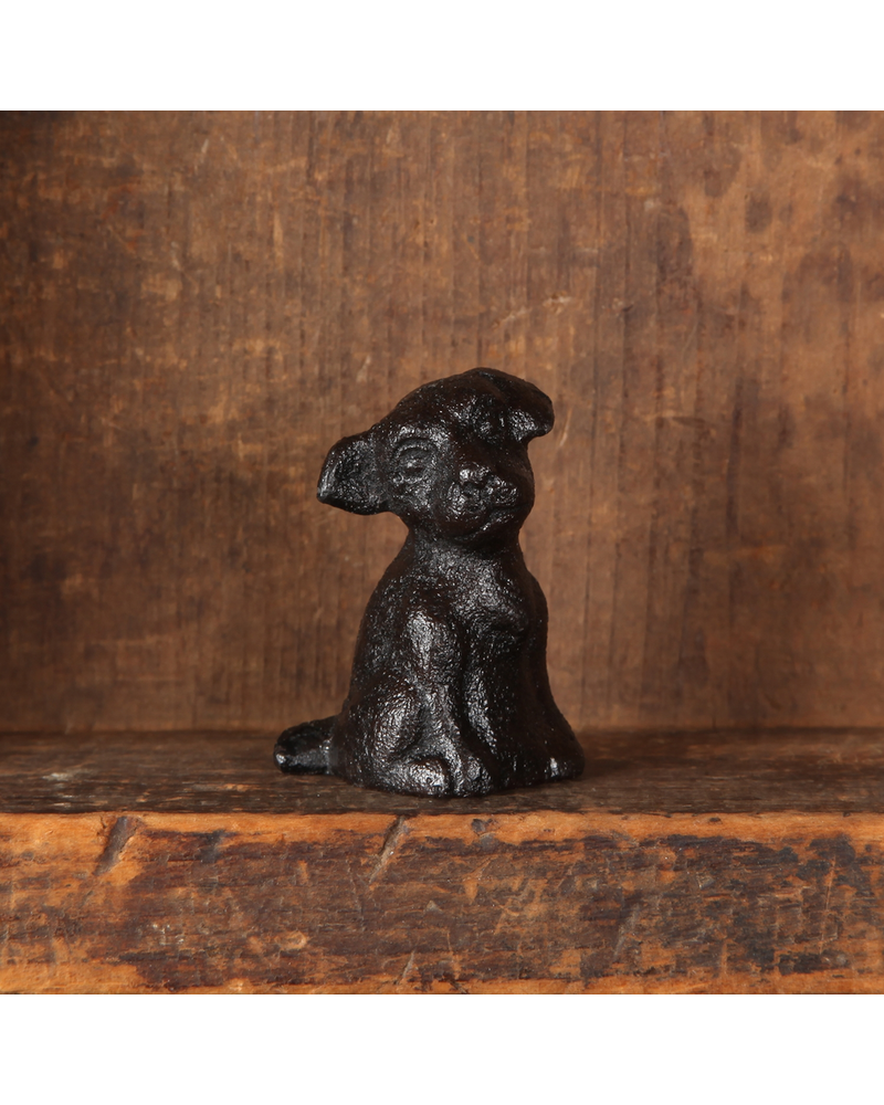 HomArt Antique Black Cast Iron Tiny Puppy - Set of 3