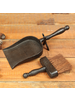 HomArt Fireplace Dust Pan with Broom - Cast Iron - Antique Black