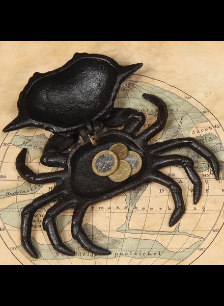 HomArt Crab Hinged Cast Iron Box - Antique Black