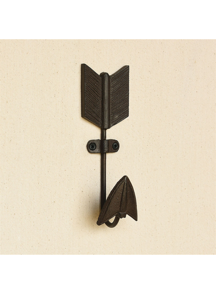 HomArt Arrow Cast Iron Wall Hook - Brown