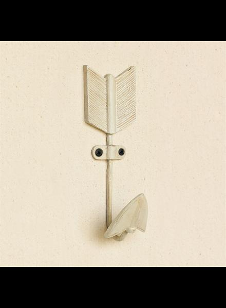 HomArt Arrow Cast Iron Wall Hook - Antique White