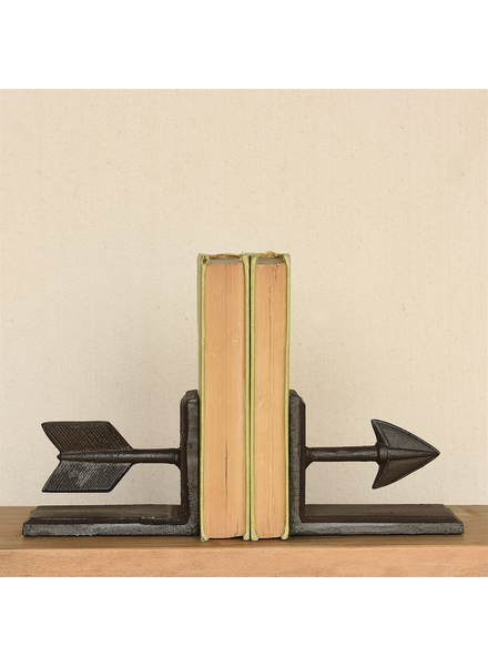HomArt Arrow Cast Iron Bookends - Brown