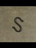 HomArt Forged Iron Link S Hook - 3 in - Antique Black - Set of 2