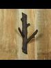 HomArt Faux Bois Cast Iron Wall Hook, Branch - Lrg - Brown