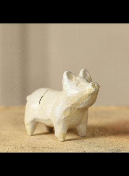 HomArt White Pig Cast Iron Place Card Holder - Set of 2