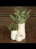 HomArt Bower Clustered Ceramic Vase - Tall Triple - Fancy White