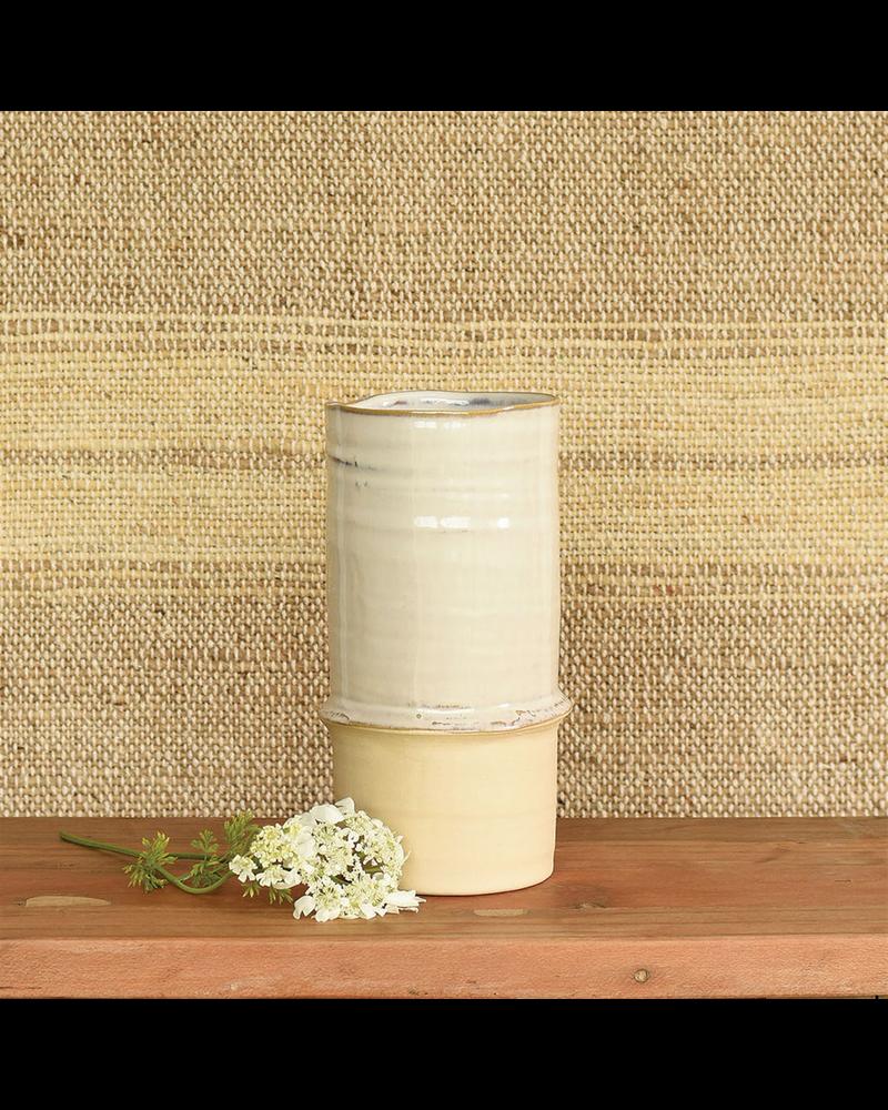 HomArt Nala Ceramic Vase - Med - White & Natural