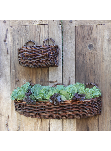 HomArt Willow Rectangle Wall Basket - Lrg - Natural