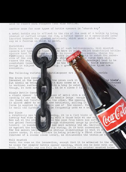 HomArt Black Chain Bottle Opener - Set of 2