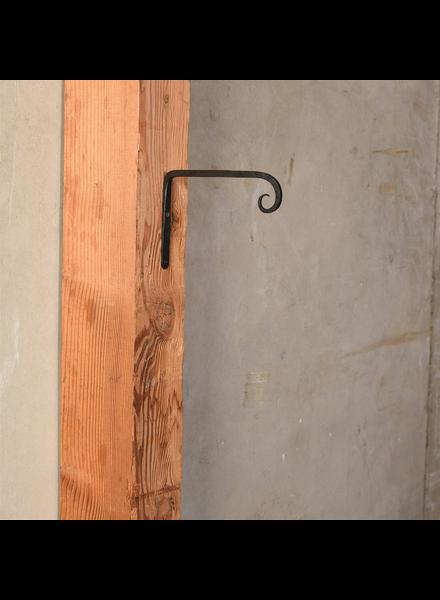 HomArt Long Forged Wall Hook, Cast Iron - Sm - Black