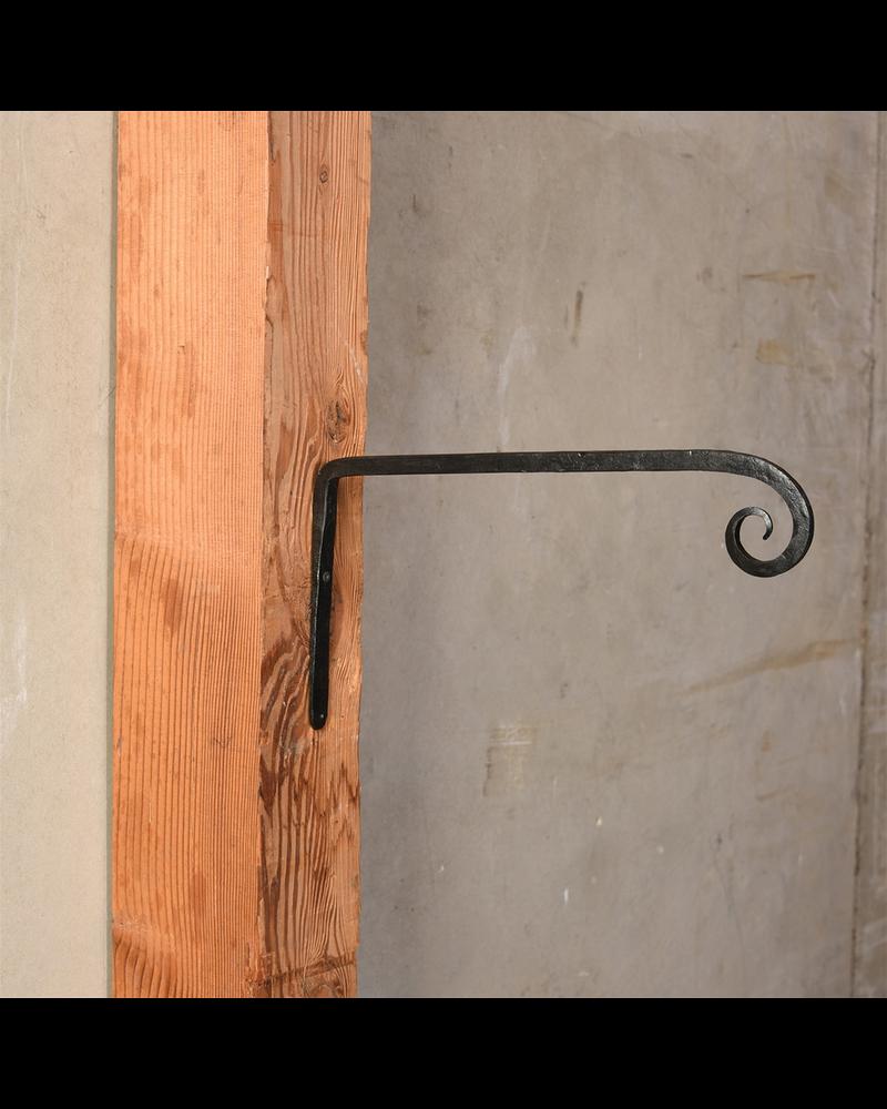 HomArt Long Forged Wall Hook, Cast Iron - Lrg - Black