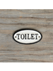 HomArt Cast Iron Sign - Toilet - Set of 2