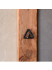 HomArt Black Cast Iron Duncan Triangle Hook - Set of 2