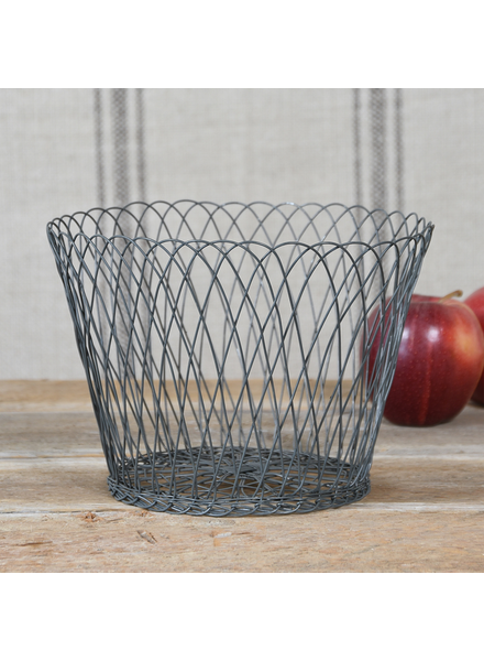HomArt Medium Tulle Wire Basket