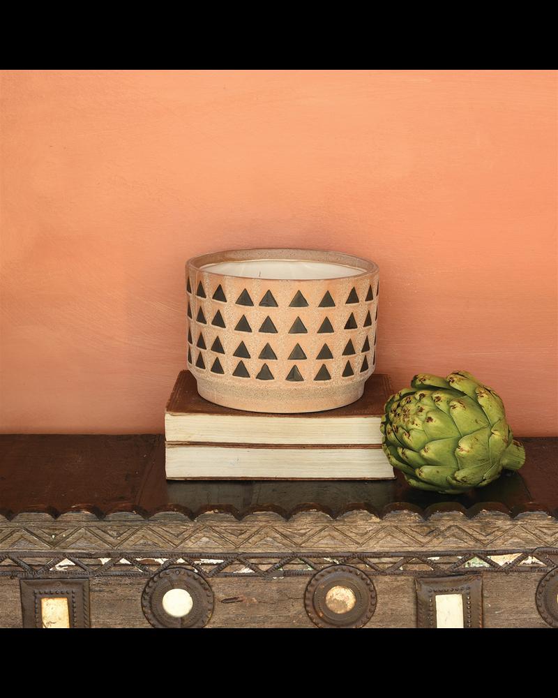 HomArt Inca Cachepot, Ceramic - Lrg - Terra Cotta
