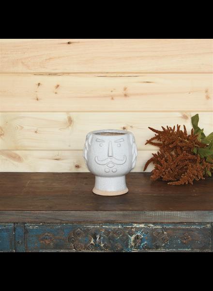 HomArt Duke Cachepot, Ceramic - White