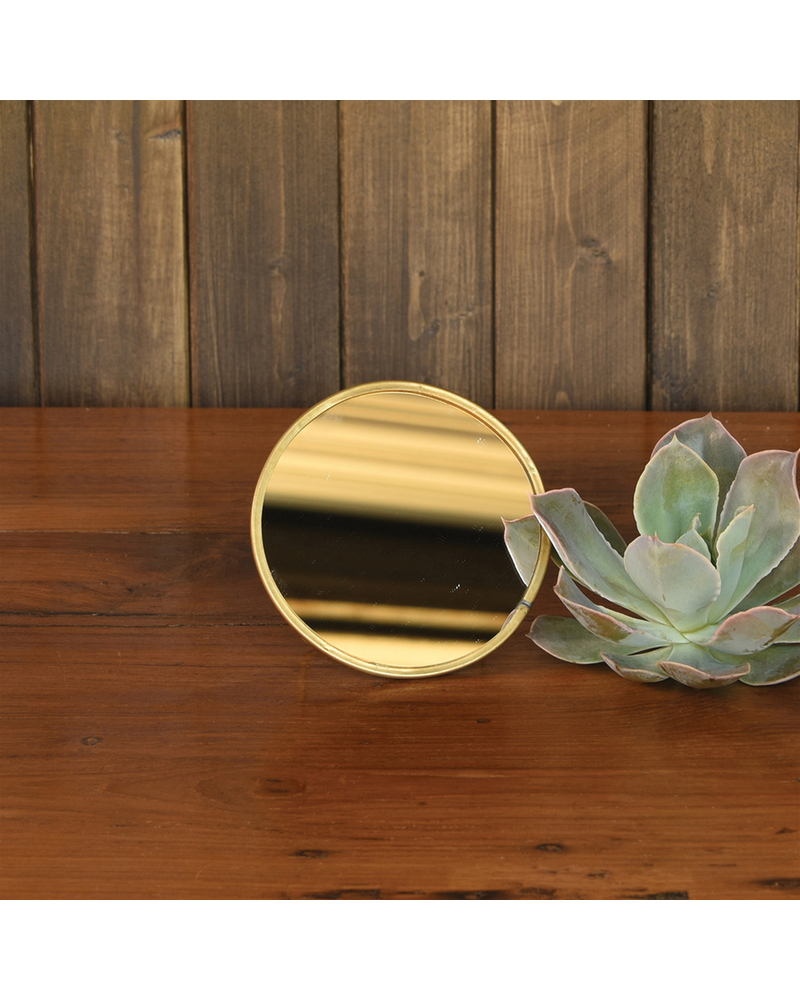 HomArt Monroe Easel Mirror, Brass - Sm