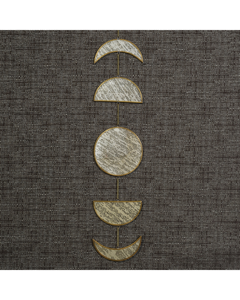 HomArt Phases of Moon, Antique Mirror & Brass