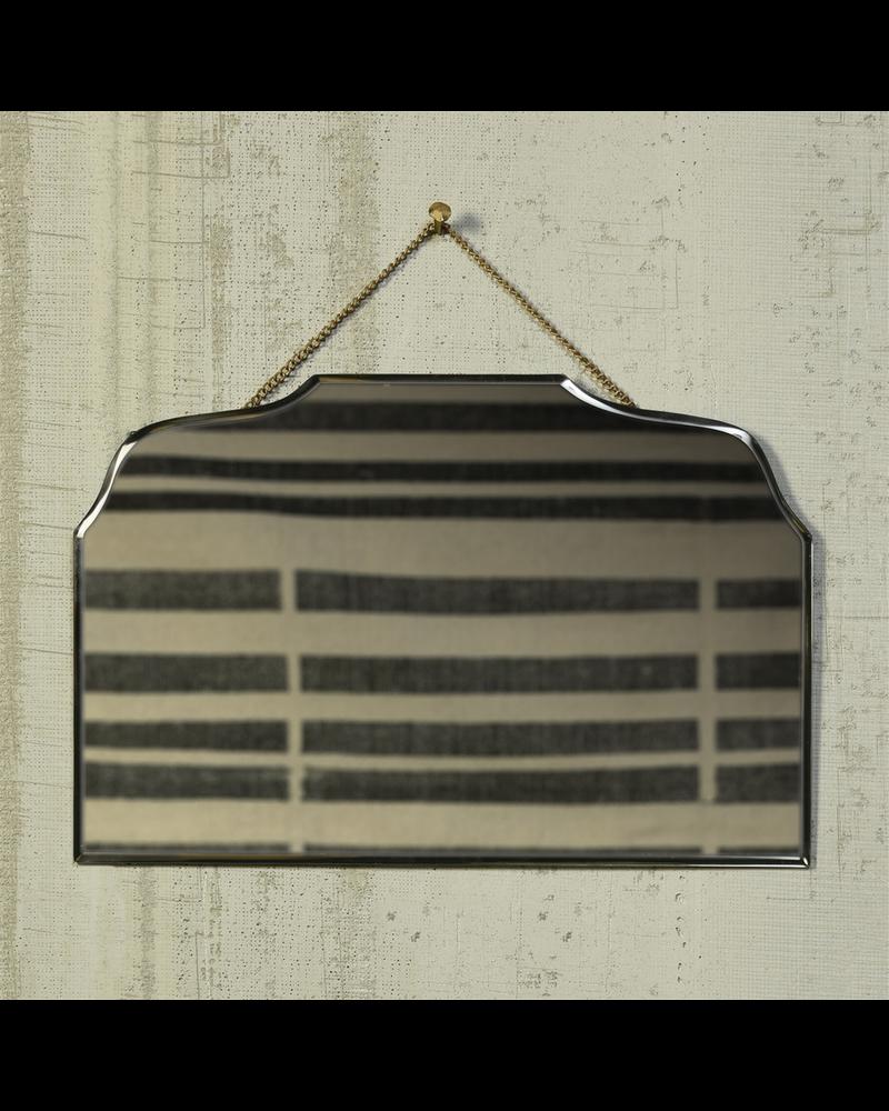 HomArt Farrah Beveled Mirror, Brass - Horizontal Rectangle