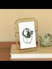 HomArt Monroe Easel Frame, Brass - 5x7