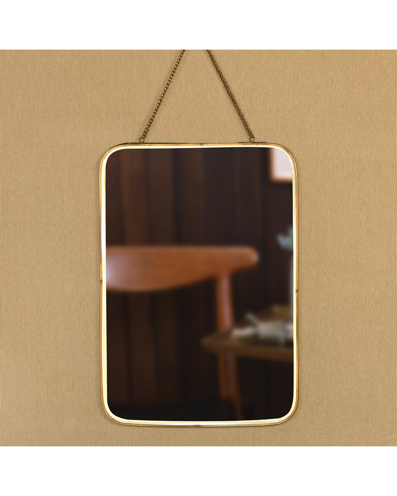 HomArt Estelle Mirror, Brass - Vertical Rectangle