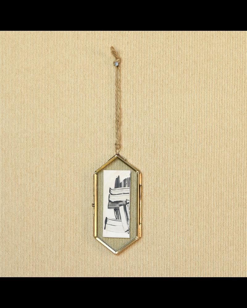 HomArt Geo Ornament Frame, Brass - Lrg