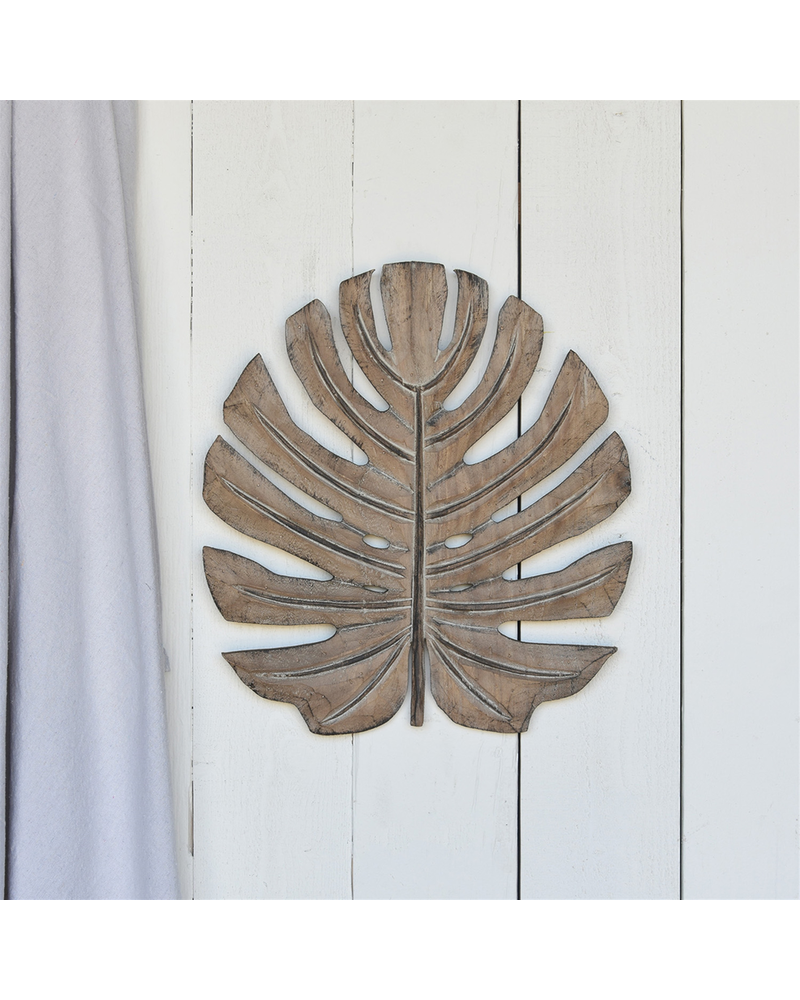 HomArt Kelso Monstera Leaf, Wood