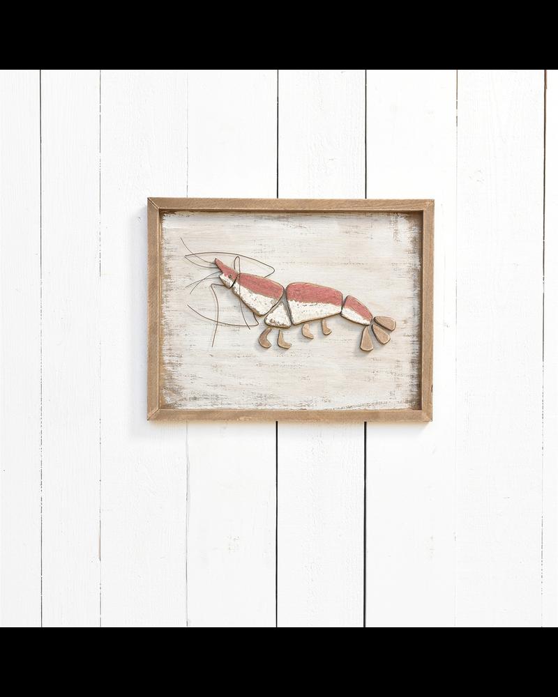 HomArt Framed Lobster, Wood