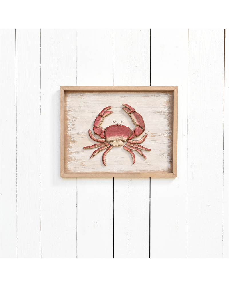 HomArt Framed Crab, Wood