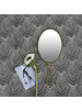 HomArt Lena Hand Mirror, Brass - Oval - Brass
