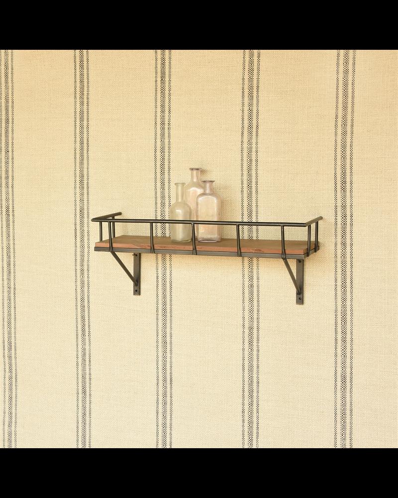 HomArt Billy Wall Shelf, Wood and Iron - Sm