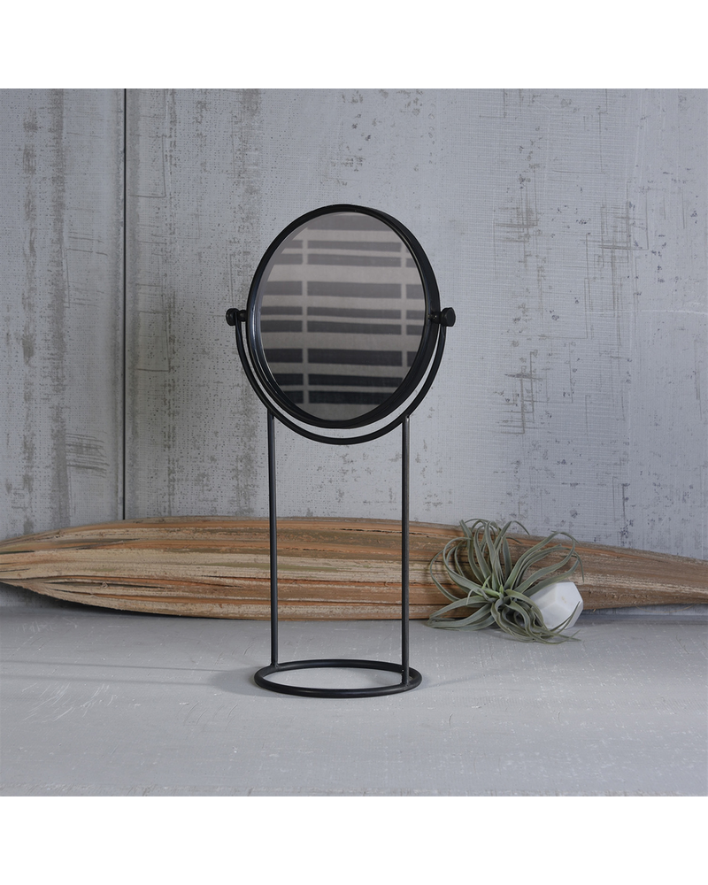 HomArt Archer Round Swiveling Mirror - Black