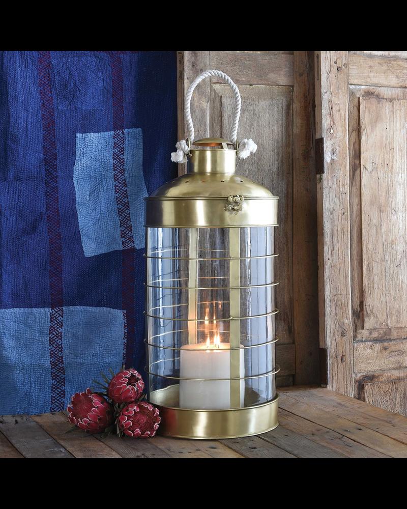 HomArt Caravan Brass Lantern - Grand - Antique Brass