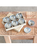 HomArt Alma Metal Tealight Holder - Boxed Set of 6 - Zinc