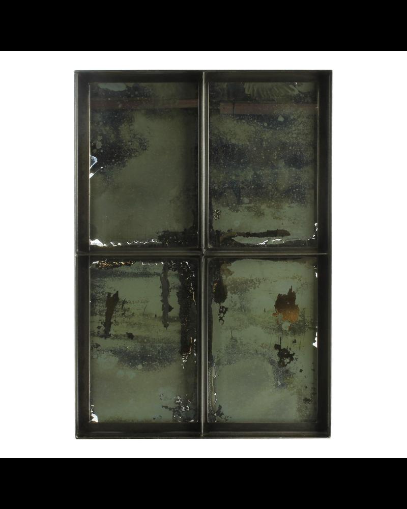 HomArt Carrefour Iron Mirror - 4 Panes - Antique Nickel