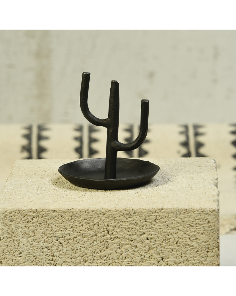 HomArt Cactus Ring Holder, Iron - Black