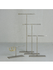 HomArt Maddox Forged Iron Jewelry T Stand - Med 8 - Silver