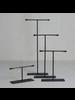 HomArt Maddox Forged Iron Jewelry T Stand - Tall 12 - Black
