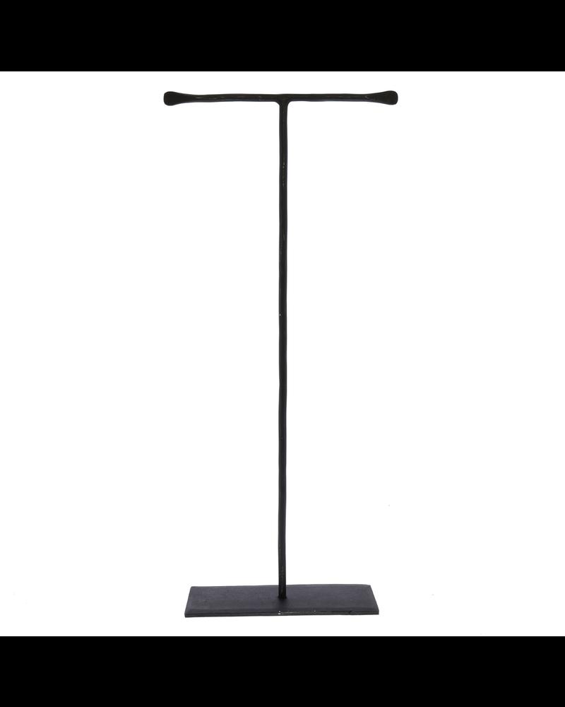 HomArt Maddox Forged Iron Jewelry T Stand - Extra Tall 16 - Black
